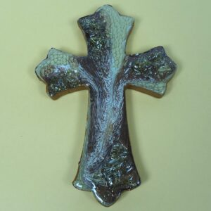 Glittery Brown Cross