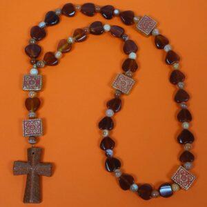 Red Agate Prayer Beads