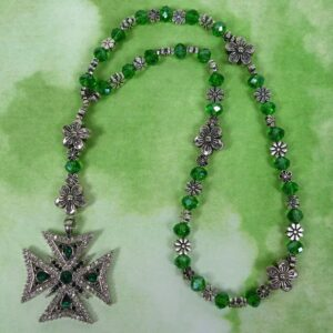 Green Daisies Prayer Beads