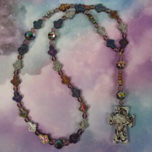 Metallic Crosses Prayer Beads