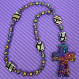 Aurora Rainbow Cross Anglican Prayer Beads