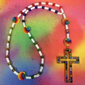 Rainbow Chakra Protestant Prayer Bead Necklace