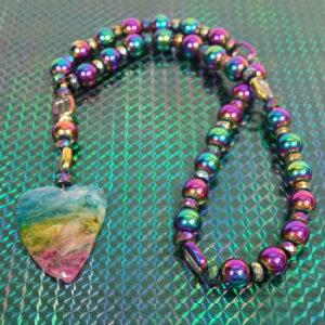 Rainbow Agate Heart Anglican Prayer Beads