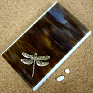 Brown Dragonfly Large 28-dose Pillbox