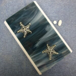 Denim Blue Starfish Medium 28-dose Pillbox