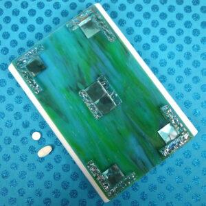 Aqua Squares Large 28-dose Pillbox