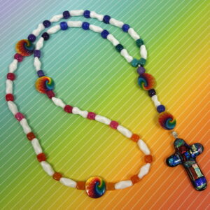 Chakra Rainbow Prayer Bead Necklace