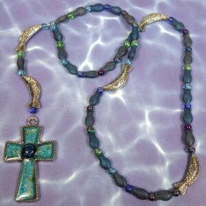 Blue Fish Prayer Beads