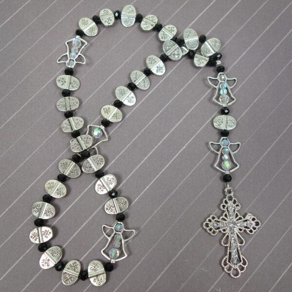 Angelic Black Protestant Prayer Beads