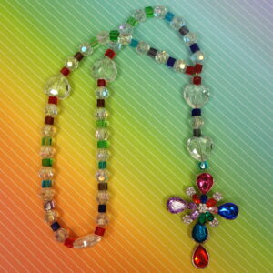 Crystal Rainbow Protestant Prayer Bead Necklace