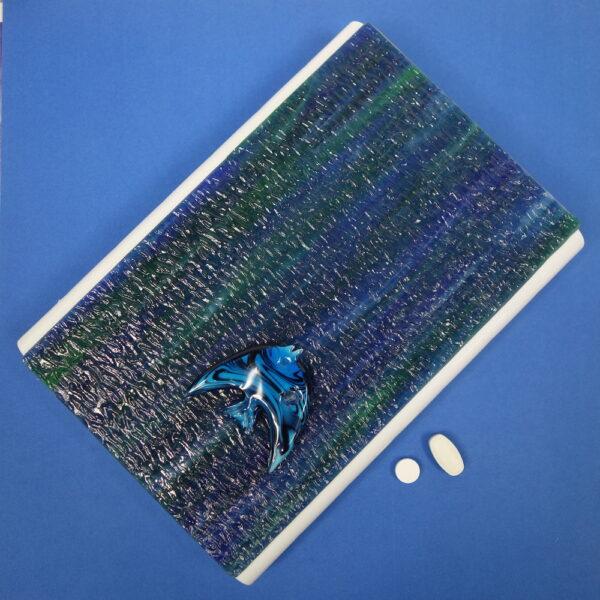 Blue Green Fish Large 28-dose Pillbox