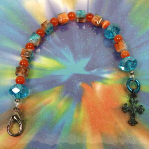 Orange Aqua Protestant Chaplet
