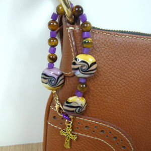 Purple Tan Swirls Chaplet