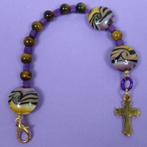 Purple Tan Swirl Protestant Chaplet