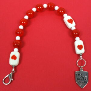 Red Hearted Protestant Chaplet Bracelet