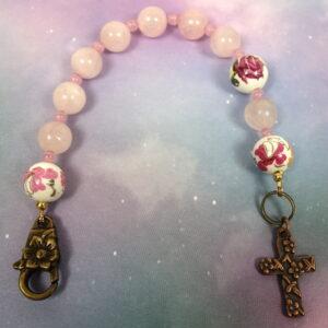 Rose Quartz Chaplet Bracelet