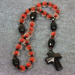 Frosted Ladybugs Protestant Prayer Beads