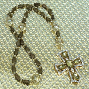 Dazzled Goldfish Prayer Bead Necklace