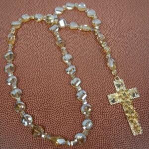 Golden Facets Prayer Bead Necklace