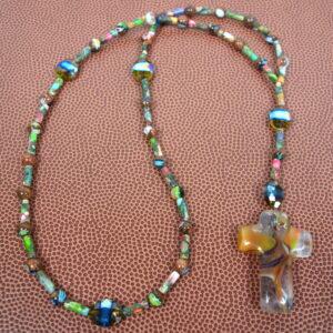 Millefiori Jasper Prayer Bead Necklace
