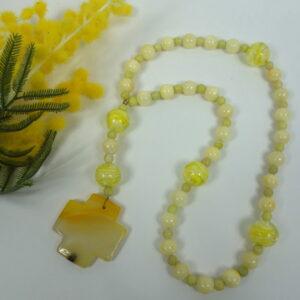 Lemon Agate Prayer Beads
