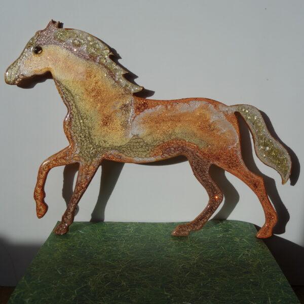 Glittery Gold Horse