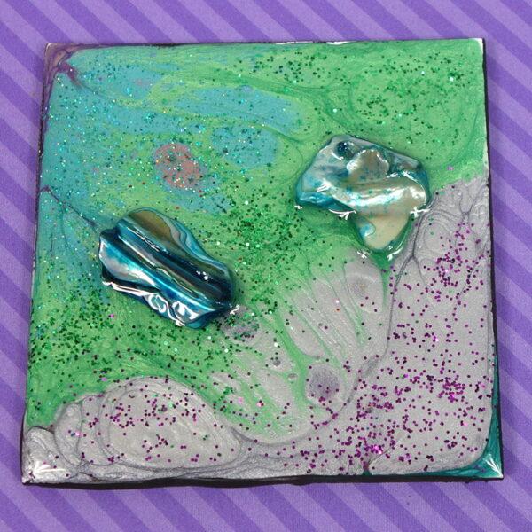 Purple Green Shell Magnet