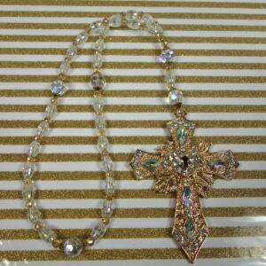 Golden Keyhole Prayer Beads