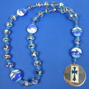 Moody Blue Waves Prayer Beads