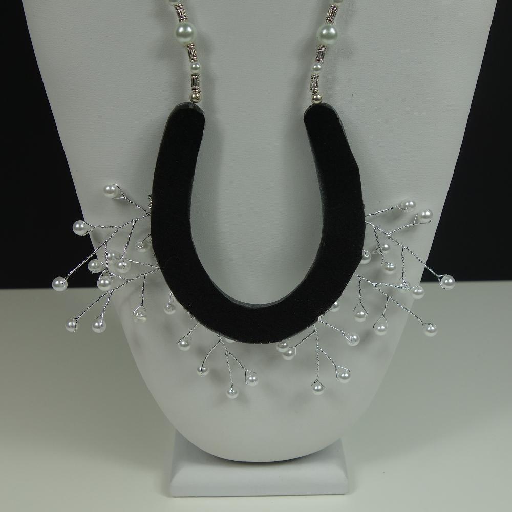Back of Pearl Horseshoe Necklace