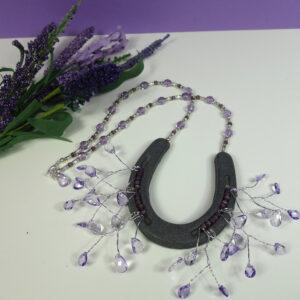 Purple Horseshoe Necklace